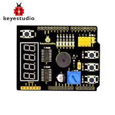 Free shipping !keyestudio <b>Multi</b>-<b>purpose shield</b> V2 W/Gift Box for ...