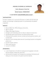 nursing sample resume nursing position resume objective cover letter nurse rufoot resumes esay and templates