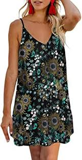 AlvaQ Women Summer <b>Spaghetti Strap</b> Button Down <b>V Neck</b> ...