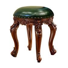 Footstool <b>Solid Wood American</b> Dressing Table Stool Cloth <b>Shoes</b> ...