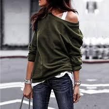 2019 Off Shoulder <b>Sweater Women</b> Sexy Solid Slash Collar <b>Pullover</b> ...