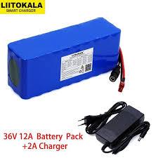 Liitokala 36V 12Ah 18650 Lithium Battery pack High Power ...