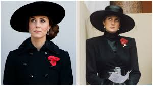 kate middleton draws princess diana comparisons in remembrance day kate middleton draws princess diana comparisons in remembrance day photo see the pics