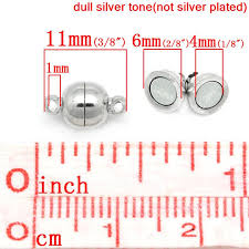 8SEASONS <b>20 Sets Silver Tone</b> Color Magnetic Clasps 11x6mm(3 ...