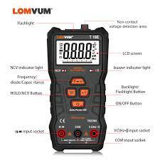 <b>LOMVUM</b> Intelligent Multimeter 6000 Count Digital High precision ...