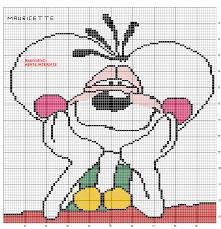 """Résultat de recherche d'images pour """"modèle broderie point de croix diagramme Diddl"""""""
