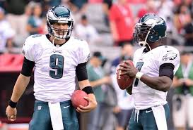 Nick Foles and Michael Vick