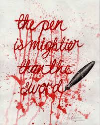 essay on the pen is mightier than the sword the pen is mightier than the sword by ephemeras on