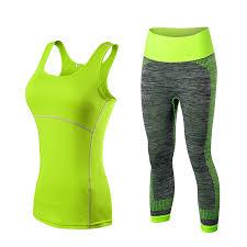 Yuerlian Quick Dry sportswear <b>Gym</b> Leggings <b>Female</b> T shirt ...