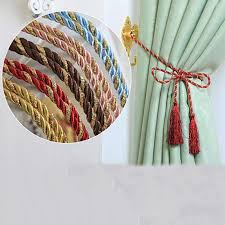 <b>1PCS</b> Window <b>Cotton Rope</b> Tie Backs Curtain Fringe Tiebacks ...