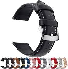 Leather - Watch Straps / Accessories: Watches - Amazon.co.uk