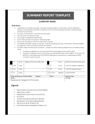 printable report templates summary report template