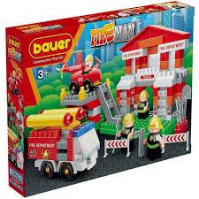<b>Конструктор Bauer Fireman</b> Пожарная часть (164 элемента ...