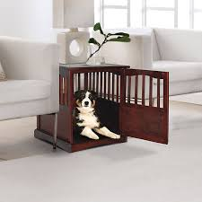 wooden contemporary dog crate end table ideas furniture style dog crates