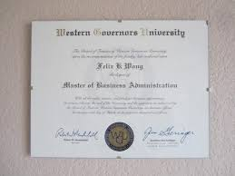 how i did an mba in months at wgu online master of business administration mba western governors university felix wong diploma