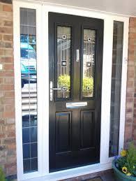 Exterior Design Elegant Black Composite Front Door Design With - Exterior garage door