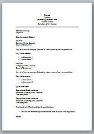 curriculum vitae in ms word format