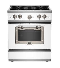 black appliance matte seamless kitchen:   classic range white satin nickle