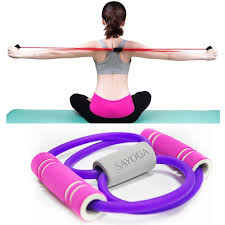2019 <b>Gym 8 Word</b> Elastic Bands Chest Expander Rope Muscle ...