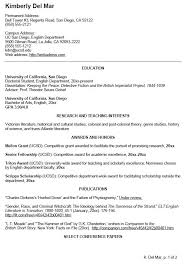 Academic Curriculum Sample Vitae CV Examples   academic cv template How to get Taller