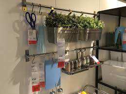 ikea showroom kitchen  kitchen are the ikea grundtal bar and hook solution ive always loved