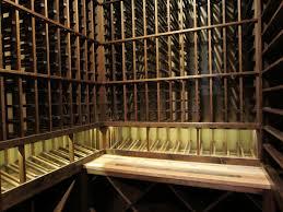 mahogany wine racks with horizontal display row barrel wine cellar designs