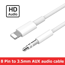 Aux Cable For iphone XS Max <b>8 Pin to 3.5mm</b> Aux Jack Cable Male ...