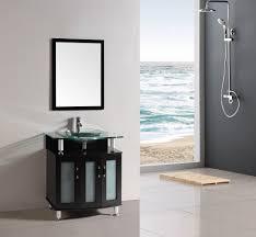 bathroom features gray shaker vanity:  inch belvedere modern espresso bathroom vanity w tempered glass top amp basin