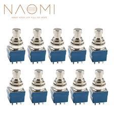 <b>NAOMI 10PCS</b> 9 Pin 3PDT <b>Guitar</b> Effects Pedal Box Stomp Foot ...