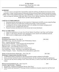legal administrative assistant functional resume sample resume legal assistant