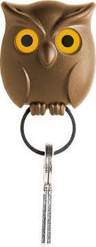 <b>Держатель для ключей</b> Qualy <b>Night</b> Owl коричневый — купить в ...
