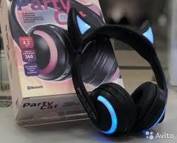<b>Наушники</b> с ушками кошки <b>Qumo Party</b> Cat Bluetooth купить в ...