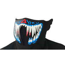 <b>Creative</b> cool <b>Halloween led</b> cold light music sound change mask ...