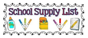 Image result for school supply list pics