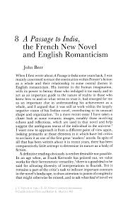 a passage to the french new novel and english r ticism inside
