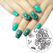 YZWLE 1 Pc Hand painted <b>Butterfly</b> Flower <b>Original Designs</b> Nail Art ...