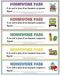 ideas about Homework Pass on Pinterest   No Homework  Late