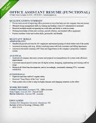 Functional Resume Samples & Writing Guide | RG functional resume for an office assistant Office Assistant