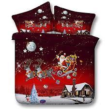 EsyDream 3D <b>Bedding</b> Sets <b>Merry Christmas</b> Santa Claus and Gift ...