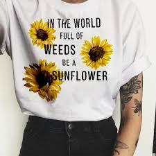 <b>Women</b> 2019 Floral Fashion <b>Wildflower Graphic Tees</b> Print T Shirt ...