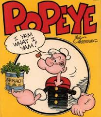 Image result for popeye the sailor mowing grass