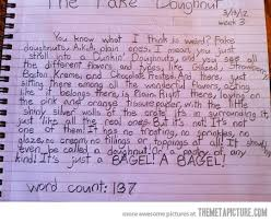 year old speaks out about plain donuts