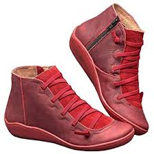 <b>2019 New Women's</b> Casual Arch Support Boots Waterproof Ankle ...