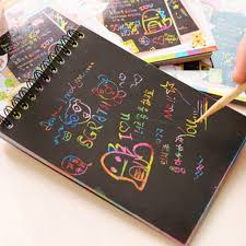 COCO-10 Pages/<b>1 Book Colorful Dazzle</b> Scratch Note Sketchbook ...