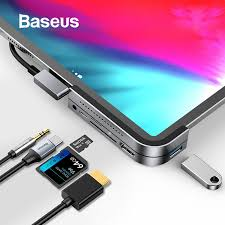 Baseus 6 in 1 USB <b>HUB</b> for iPad Pro MacBook Pro <b>Type C HUB</b> ...