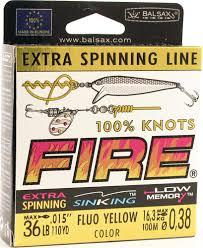 <b>Леска Balsax Fire</b>, <b>100</b> м, 0,38 мм, 16,3 кг — купить в интернет ...
