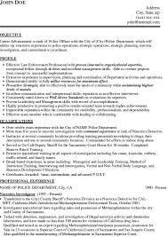 police officer resume example
