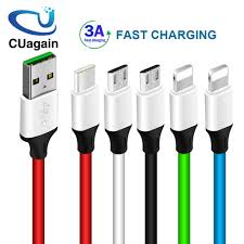 Quick Charging USB Cable for Mobile Phone <b>Micro USB Type C</b> ...