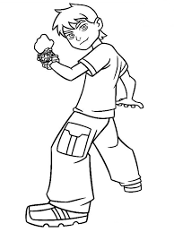 Small Picture Coloring Pages Boys Ben 10 Alien Force Coloring Page Ben 10