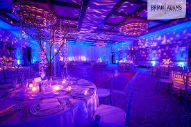 blue uplighting with bokeh patterned lighting blue wedding uplighting
